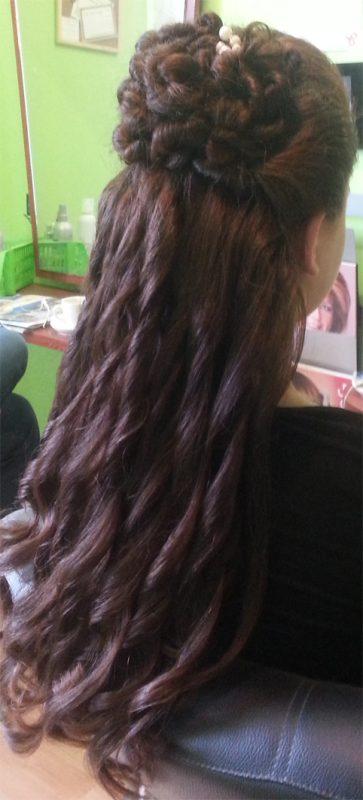 lang haar bruin